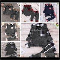Ins Giysi Set Çiçek Kız Hoodies Pantolon 2 Adet Setleri Ekose Bebek Erkek Eşofman Tasarımcı Çocuk Kıyafetler Moda Bebek Giyim N3WV6 5nora