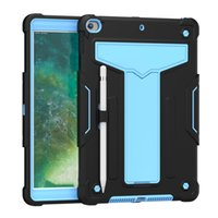 Tablet Cases For IPad Pro 10.2 Inch 7th 8th Generation 2020 2019 Built In Kickstand 3 Layer Protection Shockproof Cover With Pencil Holder