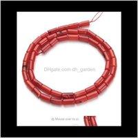 Shell Knochen 1Standlot 4x8mm rote natürliche Säule Korallen lose Perlen für diy armband halskette schmuck material materialien f2791 an2HV fnk15
