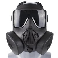 Tactical Hood Protective Respirator Mask Full Face Gas For Military Shooting Hunting Riding CS Game Cosplay Protection