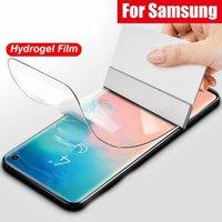 التغطية الكامل منحني 3D غطاء شاشة حامي هيدروجيل لينة فيلم لسامسونج S8 S9 بلس S10 S10E S20 S21 ملاحظة 8 9 10 20 (لا زجاج مقسى)