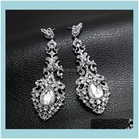 Dangle & Chandelier Jewelrydesigners High Quality Aessories Water Bridal Wedding Crystal Earrings Erh64 Drop Delivery 2021 Ahedq