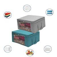Сумка для хранения одеяла с крышкой складной пылезащитной коробке большой емкости Организатор одежды Организатор мешок шкаф и подсветка