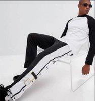 Moda Tasarımcısı Pantolon Erkekler Kadınlar Joggers Harfler Ile Bahar Nakış Elastik Bel Spor Pantolon Gri Sarı Şerit