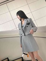 PRA early autumn new two-piece set suit jacket+dress dr 21 autumn winter Heavy Industry Houndstooth latest series size SML
