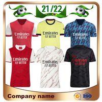 Arsen 21/22 Gunners Home Soccer Jersey 2021 Pepe Nicolas Ceballos Henry Guendouzi Smith Rowe Willian Tierney Odegaard Saka Thomas Football Shirts Uniformes