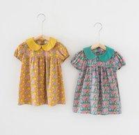 أزياء الصيف الفتيات الملابس اللباس الأزهار الحيوانات الأليفة عموم طوق الأميرة لينة فساتين مريحة
