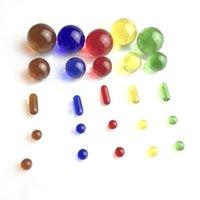 Quarz Terpenschlüssel Carb Cap Insert Pearl mit Hukahn 20mm Glaskugel 14mm Kappen 5mm 1.4 cm Säulen Rubineinsätze 6mm Banger Pearls