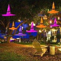 Cadılar bayramı Şapka Halloweens Dekorasyon Dize Işıkları Parlayan Cadı Şapka Sahne Düzeni Parti Malzemeleri Büyücü Büyücü GWB9260
