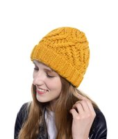 Winter Women Hat New Autumn Handmade Female Warm Cap Knitted Beanie Woman Bonnet Femme Chunky Thick Stretchy Hats EWF11285