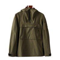 Cptopstoney 2020 nueva chaqueta de bolsillo con cremallera con capucha con capucha con capucha, chaqueta casual de moda europea y americana, abrigo de hombre, tela de nylon, funda para hombre