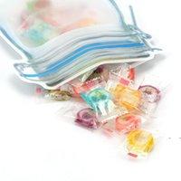 Gıda Saklama Torbaları Mason Kavanoz Şekli Kullanımlık Atıştırmalıklar Çerez Çeşni Fermuar Mühür Seyahat için Kafa Geçirmez Organizatör Plastik FWE7277
