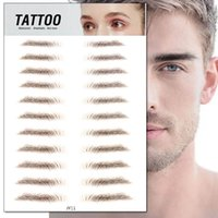 Eyebrow tools &stencils 3D stickers Biomimetic semi-permanent water transfer printing waterproof line the brows eyebrows Tattoo for both lady and man wear