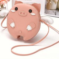 Purse Lovely Baby Girls Mini Shoulder Bag Leather Cute Pig Animal Children Coin Kids Small Wallet Kawaii Clutch Princesse