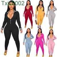 Women Jumpsuits Designer Slim New Personalized One Piece Pants Sexy Color Matching Onesies Ladies Rompers 7 Colours