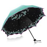 Qualidade Dobrável Guarda-chuva Para Mulheres Marca Viagem Anti-UV À Prova de Vento Flor De Chuva Modish Feminina Sun Girl Parasol Bolso Guarda-chuvas