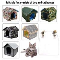 كلب البيت ستارة الباب للماء الحيوانات الأليفة خاصة Windproof شركات القمر القمامة القط، صناديق المنازل