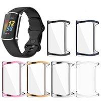 ل Fitbit Charge 5 Case TPU سيليكون واقية حالة تغطية واضحة قذيفة ل fitbit شحن 5 الذكية ووتش الفرقة الملحقات