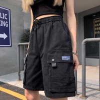 Shorts Frauen Pantalones Donna Biker Streetwaer Beute Vetement Kurzer Femme Dark Hiphop Tropft Kleidung Spodenki Damskie 210607