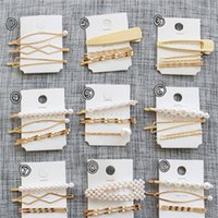 New 3Pcs Set Pearl Metal Women Hair Clip Bobby Pin Barrette Hairpin Hair Accessories Beauty Styling Tools Fashion Jewelry T202