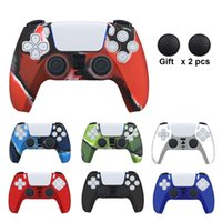 Soft Rubber Case For PS5 Accessories Gamepad Silicone Cover For SONY Playstation 5 Joystick For PS5 Controller Protection Case