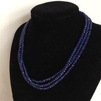 Smooth Emeralds Sapphires Rubies Necklaces Natural Stone Necklace For Women Party Pageant Prom Wedding Bridal Jewelry Mom Gift Chains