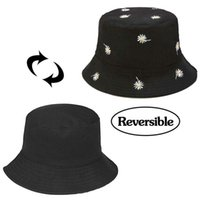 Hats Bucket Hat Daisy Can Wear Basin on Both Sides, Fisherman's with Short Eaves, Sun Protection{category}