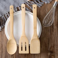 Long Handle Scrapers Bamboo Spatula High Temperature Resistant Bamboo Spoon Environmental Protection Household Kitchen Cooking Tool T500892