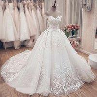 Beautiful Sparkle Wedding Dresses Dubai Bling Sweetheart Bridal Ball Gown WeddingDresses Plus Size Vestidos