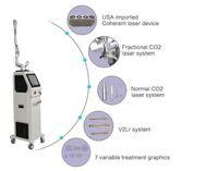 dermatology Co2 fractional laser machine  RF metal tube for skin rejuvenation