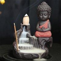 Creative Home Decor Ceramic маленький монах дым обратно конус Cone Conser держатель ладан горелки офисный чайный домик украшения ароматные лампы