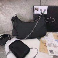 Hohe Qualität Nylon Handtaschen Frauen Luxurys Marke Crossbody Bag Hobo Geldbörsen Baguette Paket Triad Taschen Kommen Sie mit Box