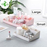 Caixas de Armazenamento Caixas GUANYAO Multi-Grid Maquiagem Organizador Stand Nail Polonês Lipstic Jóias Caixa Cosmética Batom Case Titular Exposição