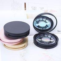 Wimpernverpackung Kreisbox mit Spiegel Wimpern Aufbewahrungsbox Leeres Wimpernetui Für Frauen Mädchen Makeup HHD9401