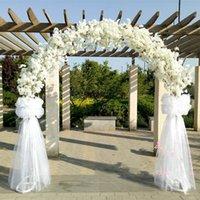 Lüks Düğün Merkezi Parçaları Metal Kemer Kapı Asılı Garland Çiçek Ile Kiraz Çiçekleri Ile Standları Etkinlik Dekor Dekoratif Çiçek Çelenkleri