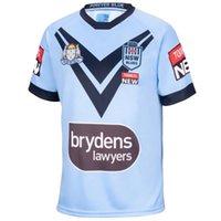 Boyut S - 5XL 2021 Menşei Devlet Jersey NSW Blues Ev Rugby Jersey 20 21 Rugby Eğitim Şort Jersey