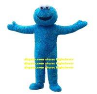 Blue Cookie Monster Elmo Mascot Costume Dessin animé Adulte Tenue de personnage Costume Lovely Annabelle Bienvenue Réception CX2005