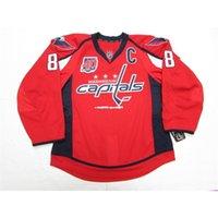 Washington billig benutzerdefinierte ovechkin-Hauptstädte Home 40. Jahrestag Jersey Stitch Fügen Sie eine beliebige Namens hinzu Name Herren Hockey Jersey XS-6XL