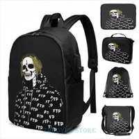 Backpack Funny Graphic Print Undead Scrim Suicideboys Altered USB Charge Men School Bags Women Cosmetic Bag Travel Laptop