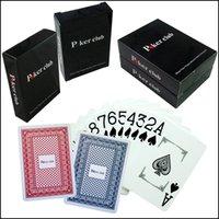 PVC Malzeme Geniş Kart Ön Texas Holdem Poker Oyun Kartı Plastik Kartları Güverte Poker Board oyunu Seyahat Oyunları