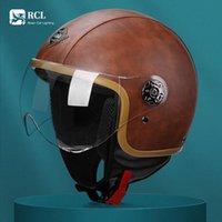 Motorradhelme Elektrische Auto Touring Helm Unisex Retro Klassische Reiten Halbgesicht Erwachsene Schutzbrille Safe Abnehmbares Moto Casco