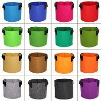 Planters & Pots 1 2 3 5 7 10 15 20 Gallon 15 Colors Garden Grow Bags Flower Vegetable Aeration Planting Pot Container Planter Pouch With Han