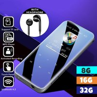 & MP4 Players Bluetooth Mp3 Player Hifi Metal Portable Music With Fm Radio Recording Built-in 32GB Speaker Touch Key 1.8 Inch Screen