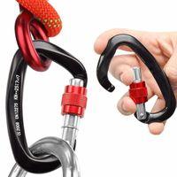 Kordeln, Slings und Gurtbing-Booms Angeln Aluminiumlegierung Karabiner Keychain Outdoor Camping Klettern Snap Clip Lock Schnallen Haken Werkzeug