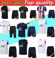 20 21 Messi Futbol Gömlek Hava Jordam Survetement Futbol 3/4 Kısa Eğitim Giysileri Mbappe Icardi Sleeve