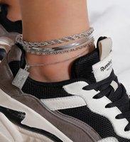 Fashion 4pcs set Anklet Bracelet for Women Foot Accessories Summer Beach Barefoot Sandals Bracelet ankle on the leg Female Ankle