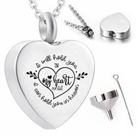 Fashionable heart-shaped stainless steel pendant necklace to commemorate the ashes of mom and dad urn cremation jewelry