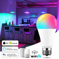 Birnen Smart Glühbirne RGB Zubehör LED Zauberlampe Beleuchtung Dekoration E26 E27 9W 1pc Indoor Decor Wifi