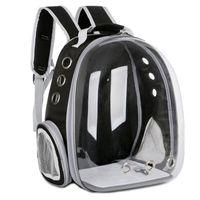 Katze Rucksack Transparente Reisetasche Atmungsaktives Haustier im Freien für Katzen, Hunde und klein, um Katzenträger zu tragen, Krippenhäuser