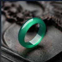 2021 Nouveau style Chalcèdey Noir Bleu Blanc Jaune Jaune Vert Four Couleur Jade Anneau pour hommes et femmes Couples Bague Libre Ship Ping